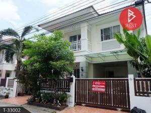 For SaleHouseSamrong, Samut Prakan : 2 storey detached house for sale, Sena Green Ville Village, Bangna, Thepharak, Samut Prakan.