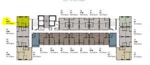 ขายดาวน์คอนโดรังสิต ธรรมศาสตร์ ปทุม : ขายดาวน์ 572,000 คอนโดCommon TU 31.4 ตรม. Type D rare item ห้องมุมทิศใต้ ใกล้ธรรมศาสตร์รังสิต ห้องมือ 1