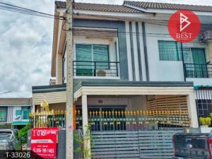For SaleTownhouseMahachai Samut Sakhon : Townhouse for sale behind the edge of Baan D Ekachai (Baan D Ekachai), Samut Sakhon.