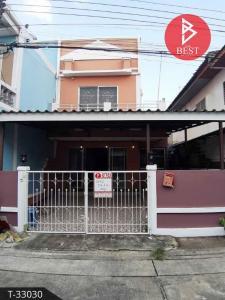 For SaleTownhouseLadkrabang, Suwannaphum Airport : 2 storey townhouse for sale, Poonsin Thani Village 1, Lat Krabang, Bangkok.