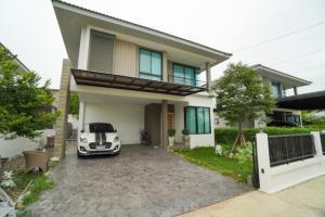 For SaleHouseRangsit, Patumtani : Single house for sale, Patreeda Avenue, Rangsit-Klong 2, size 2 floors, 64.5 sq wa, 3 bedrooms, 3 bathrooms, beautiful garden decoration, add Glass House behind the house