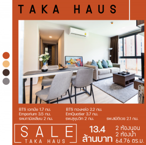 For SaleCondoSukhumvit, Asoke, Thonglor : Taka House jointly developed a project by Sansiri and Tokyu that is not just a residence.