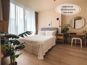 For RentCondoSukhumvit, Asoke, Thonglor : Rent - Noble Recole /2 bedroom / 43 sq.m. / 14th floor near BTS Asoke Rent 43,000