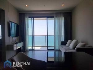 For SaleCondoPattaya, Bangsaen, Chonburi : Condo next to Pattaya beach, ready to move in #Jomtien Beach, Pattaya, 2 bedrooms, 2 bathrooms, size 77 sq.m., direct sea view