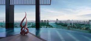 For RentCondoSathorn, Narathiwat : Ready to move in! ! Condo for rent RHYTHM Sathorn Type 1 bedroom 1 bathroom Size 35. 5 sq. m.