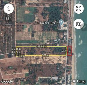For SaleLandHua Hin, Prachuap Khiri Khan, Pran Buri : Pak Nam Pran land on the sea 17 rai 1 ngan 35 square wa.