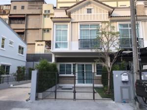For RentTownhouseRamkhamhaeng, Hua Mak : Townhome for rent 2 floors, behind the corner of Indy Bangna-Ramkhamhaeng 2 AOL-F81-2106004116.