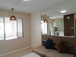 For RentCondoRamkhamhaeng, Hua Mak : Condo for rent, 1 bedroom, 28 sqm, built-in, beautiful, grade A, E, 5th floor, only 7000 baht / month