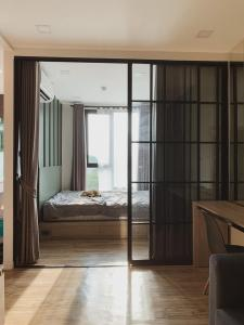For RentCondoLadprao 48, Chokchai 4, Ladprao 71 : FOR RENT/SALE :: Groove Condo Ratchada-Ladprao : Condo 1 bedroom Size 23.50 sq.m. Floor 5 New and Nice room + Ready to move in