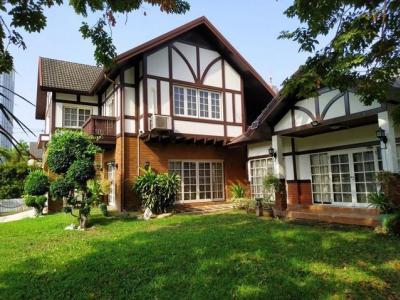 For SaleHouseOnnut, Udomsuk : 2 storey detached house for sale, corner plot 133 sq m., Sukhumvit Village. Garden City Soi Sukhumvit 79 near BTS On Nut