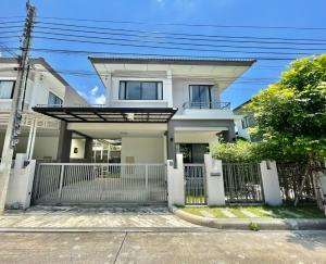 For SaleHouseSamrong, Samut Prakan : House for sale, Atoll Village, Java Bay, Bangna-King Kaew, very cheap price.