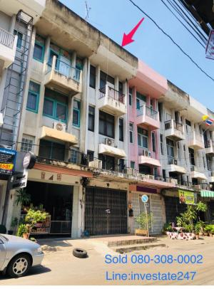 For SaleShophouseLadprao, Central Ladprao : Sell / rent a 4-storey commercial building, Ladprao 23.