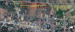 For SaleLandSuphan Buri : Land for sale, Don Chedi District, Suphan Buri Province, 9 rai, beautiful, wide front, next to irrigation canals. In the municipality near the market, hospitals and important places