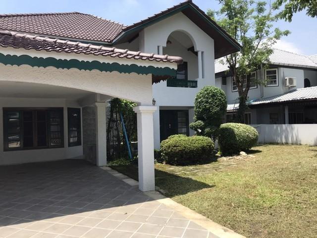 For RentHouseRamkhamhaeng,Min Buri, Romklao : 2 storey house for rent Sammakorn Village, Ramkhamhaeng 110 can make a registered office no pets