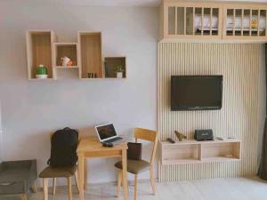 เช่าคอนโดวิทยุ ชิดลม หลังสวน : โปรช่วง COVID!! ให้เช่า Life One Wireless ห้องสตูดิโอ 1 ห้องน้ำ 28 ตร.ม ชั้น 36 Zen Style