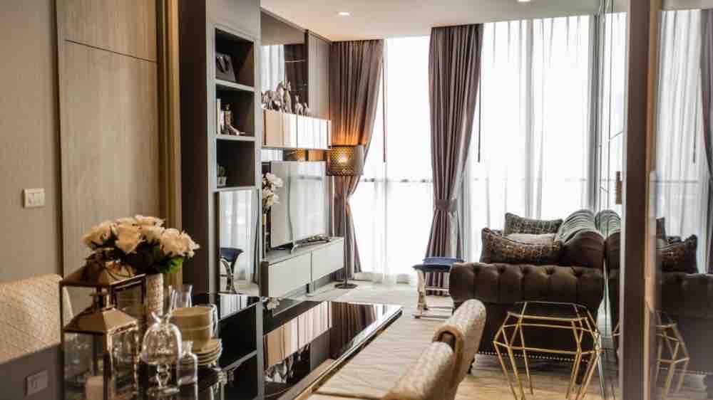 For RentCondoWitthayu,Ploenchit  ,Langsuan : Ready move in! Condo for rent : Noble Ploenchit 2 bedroom 2 bathroom 75.48 sq.m. Floor 17 City View