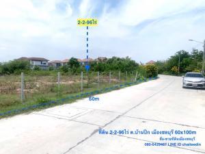 For SaleLandPattaya, Bangsaen, Chonburi : ขายที่ดินในเมืองชลบุรี เนื้อที่ 2-2-96ไร่ บ้านปึก ใกล้บางแสน