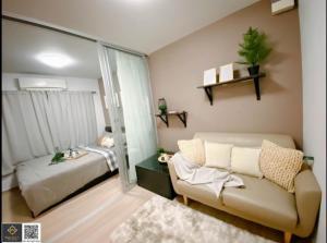 For RentCondoLadprao101, The Mall Bang Kapi : For rent! Plum Condo Ladprao 101, beautiful room, has a washing machine.