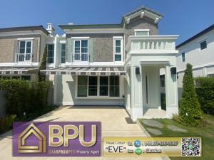 For RentHouseBangna, Lasalle, Bearing : ** Fully-Furnished 2 Bedrooms Semi-Detached House for Rent ** Anya Bangna-Ramkhamhaeng2 Near Mega Bangna