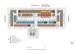 Sale DownCondoNakhon Pathom, Phutthamonthon, Salaya : Kave Salaya, Building B, size 22.8 sq.m., pool view, first day price 1,850,000 baht (get discount up to 230,000 baht)