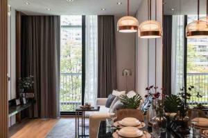 For RentCondoSukhumvit, Asoke, Thonglor : Ready move in! Condo for rent Park 24 (Sukhumvit 24) 1 bedroom 1 bathroom 39.58 sq.m. Floor 3 ** Garden View