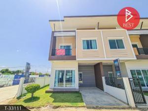 For SaleTownhouseSamrong, Samut Prakan : Townhouse for sale Khum Pailin Nakhon Village, Phraeksa, Samut Prakan, new project, 1nd hand