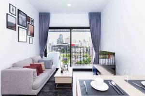 For RentCondoSukhumvit, Asoke, Thonglor : Ready move in near BTS Ekkamai! Condo for rent XT Ekkamai Type 1 bedroom 1 bathroom 31 sq.m. Floor 6