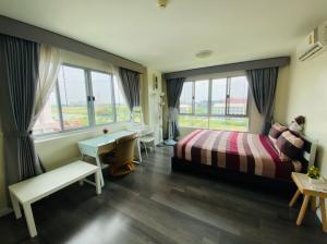 For RentCondoBangna, Bearing, Lasalle : Room for rent in Dcondo Campus Resort Bangna (SA-01)
