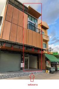 For RentHome OfficeChengwatana, Muangthong : 3-storey commercial building for rent, middle back, width 4 meters, size 145 sqm, Chaengwattana Soi 6, very good location