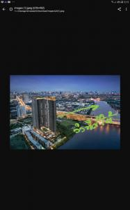 For SaleCondoRattanathibet, Sanambinna : Urgent sale, south condo, Chao Phraya and Bangkok view, high floor.