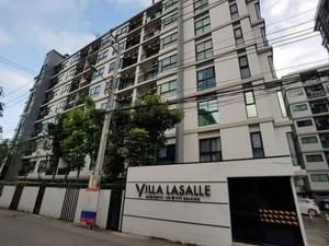 For RentCondoBangna, Lasalle, Bearing : Villa Lasalle Sukhumvit 105 Line ID : @wproper (with @ too) ready to move in, 26 sqm, starting price 7,000 baht