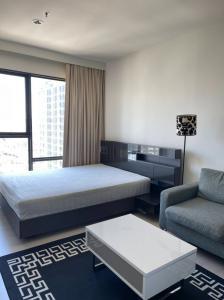 For RentCondoRama9, RCA, Petchaburi : Condo for rent Rhythm Asoke 1 (Rhythm Asoke 1) near MRT Rama 9 Studio 1 bathroom, size 23 sqm., 26th floor, beautiful decoration, fully furnished, angel room Line ID: win6642