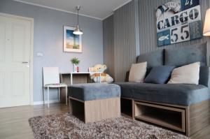 ขายคอนโดลาดกระบัง สุวรรณภูมิ : For sales D-Condo Onnut Rama 9, full furnished, Top floor with tenant