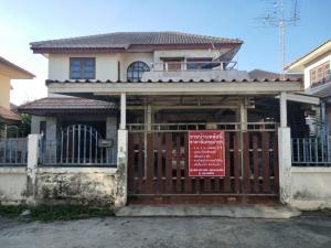 For SaleHouseAyutthaya : 2 storey detached house, Rojana Garden Home University, very low price.