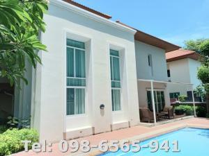 For SaleHouseChengwatana, Muangthong : Nichada Thani : Premium & elegant two storey Single House ( four-bedroom ) with a private pool, closeby to International School Bangkok, for sales at 26.5 MB