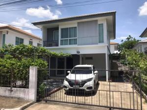 For RentHouseRangsit, Patumtani : BH1065 House for rent, 2 floors, 3 bedrooms, 2 bathrooms, Inizio1 Village, Rangsit, Khlong Sam, Pathum Thani, near the motorway.