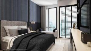 ขายดาวน์คอนโดสะพานควาย จตุจักร : ขายดาวน์เดนิม คอนโด ตึกA ชั้น 18 ห้องสตูดิโอ 23 ตรม.  (ราคาตึกแรก)
