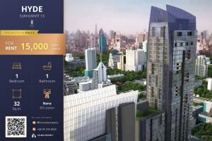 For RentCondoNana, North Nana,Sukhumvit13, Soi Nana : 🔥 Cheap rent, Hyde Sukhumvit 13 studio, beautiful room, rental price 15,000 baht/month