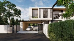 For SaleHouseChiang Mai : C6MG100225 New two-storey house for sale with a private swimming pool. 4 bedrooms and 3 bathrooms, 88.65 sq.wa.