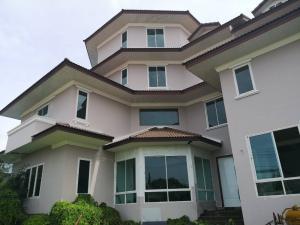 For SaleHouseChengwatana, Muangthong : Krisdanakorn Village, Chaengwattana, area 182 sq m., 4-storey luxury house + basement, Bang Kruai, Muang Thong AN201