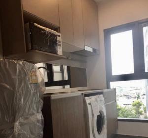 For RentCondoThaphra, Wutthakat : C278 Condo for rent, Ideo Tha Phra Interchange (corner room, size 36 sq.m., only 1 room per floor, 9th floor, morning sun, has a washing machine)