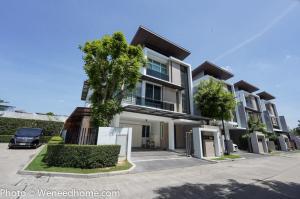 For SaleHouseRama9, Petchburi, RCA : Single house for sale, Nirvana Beyond Rama 9, Ramkhamhaeng, 50 sqw corner unit fully luxury furnished