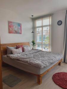 For RentTownhouseRamkhamhaeng, Hua Mak : LBH0183 Townhome for rent, 2 floors, new house, ready to move in, near Mega Bangna.