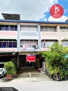 For SaleShophouseNawamin, Ramindra : 3-storey commercial building for sale, Parichat Village, Sai Mai, Bangkok.