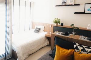 For RentCondoOnnut, Udomsuk : For Rent Life Sukhumvit 62   Studio , size 26 sq.m., Beautiful room, fully furnished.