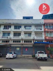 For SaleShophouseSamrong, Samut Prakan : Commercial building for sale Saprungruang City Village, Bang Pu, Samut Prakan