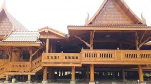 ขายบ้านสุพรรณบุรี : ขายบ้านเรือนไทย ไม้สักทองเเท้ ติดเเม่น้ำท่าจีน สุพรรณ