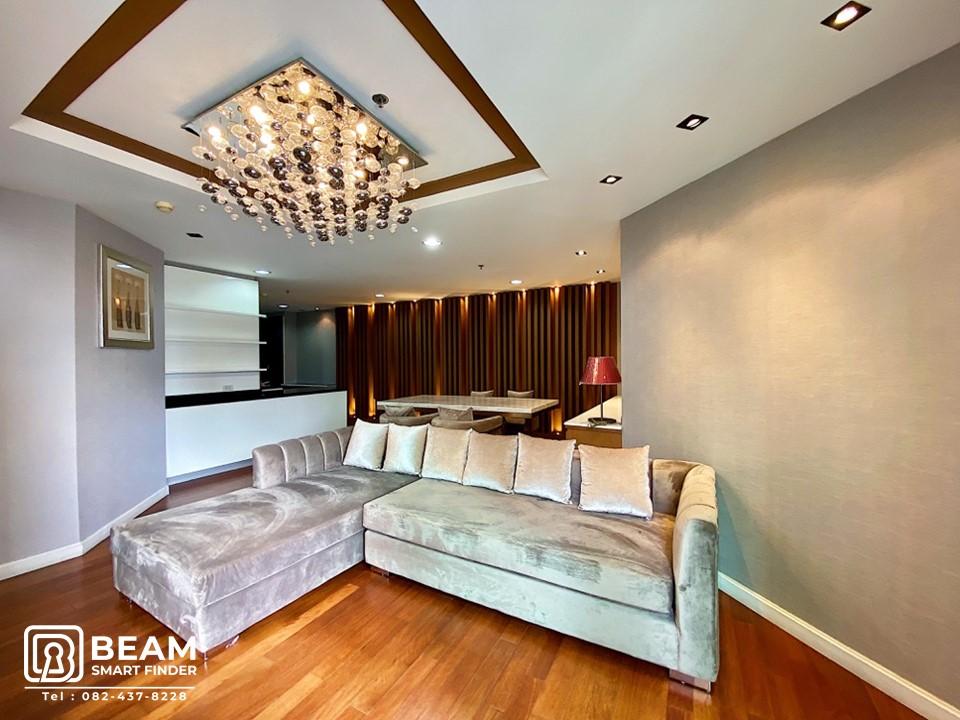 For SaleCondoRama9, RCA, Petchaburi : BL042_W  ** BELLE GRAN RAMA 9 **✨ Beautiful room, high floor.