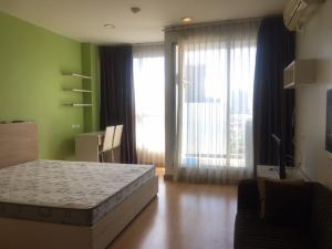 For RentCondoThaphra, Wutthakat : Studio room for rent, 31.5 sqm., 12th floor, Condo Life @ BTS Tha Phra, beautiful view, fully furnished.