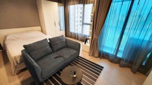 เช่าคอนโดพระราม 9 เพชรบุรีตัดใหม่ : สตู หน้ากว้าง วิวโล่ง ชั้นสูง ตึก A (ห้องใหม่) ใกล้ MRT พระราม 9